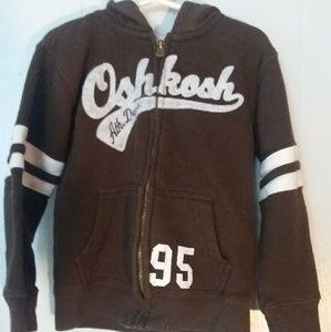 Oshkosh Child's Zip Sweatshirt Size 4 Brown